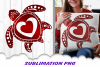 Valentines Day Sea Turtle Hearts Sublimation PNG example image 1