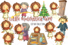 Little Matchstick Girl Fairy Tale Clip Art Collection example image 1