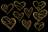 Glittery Gold Hearts example image 6