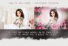 Art flowers overlays frame templates wedding example image 5