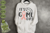Game Day Ribbon / Breast Cancer Awareness SVG File example image 1