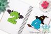 Halloween Numbers Clipart, Instant Download Vector Art example image 3