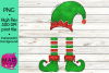 Christmas Elf - Add Your Own Text Template example image 2