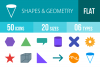 50 Shapes & Geometry Flat Multicolor Icons example image 1