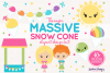 The Massive Snow Cone Clipart Pack example image 1