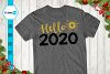 Hello 2020 svg, New Year Glitter Svg example image 1