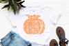 Pumpkin Mandala Svg, Pumpkin Svg, Mandala Svg, Pumpkin Dxf example image 2