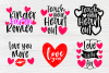 Valentine's Bundle SVG | Cut Files for Crafters | Kids SVG example image 4