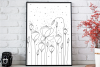 Light Flower Doodle Art, A1, SVG example image 3