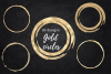 Gold and glitter circles for logo, Round gold dot, Roud gold example image 1