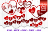 Valentines Day Hearts SVG DXF Cut Files Bundle example image 1
