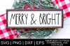 Dunnish Merry and Bright SVG | PNG | DXF | EPS example image 1
