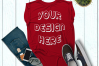 Women's Rolled Cuffs Tank Mockups - 7 example image 6