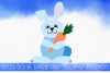 Easter Bunny Rabbit SVG by Digital Doodle Pad example image 1