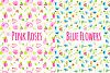 Seemless Floral Watercolor Patterns Bundle example image 3