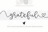 Grateful - Handwritten Script Font example image 1