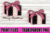 Christmas Present - Blush Pink and Black - Print File example image 1