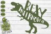 Rexy & I Know It Dinosaur SVG example image 2