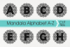 Mandala Alphabet Svg, Mandala Letter Svg, Zentangle Alphabet example image 1