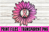 Add Your Own Text - Sunflower Breast Cancer Ribbon example image 1