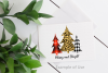 Merry and Bright Plaid Leopard Print Christmas Trees ClipArt example image 4