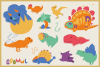 Dino World Vector Cliparts & Seamless Patterns example image 6
