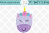 Sleepy Unicorn SVG example image 1