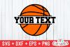 Basketball SVG   Split Basketball example image 1