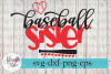 Loud and Proud Baseball Sister SVG Cutting Files example image 1