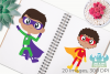 Superhero Boys 1 Clipart, Instant Download Vector Art example image 3