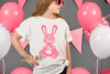 Rabbit paper cut design. SVG / DXF / EPS / PNG files example image 2