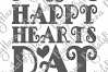 Happy Hearts Day Valentine's Sign Print & Cut File PNG SVG example image 5