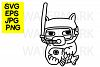 Cat with snorkel catching a fish- SVG-EPS-JPG-PNG example image 1