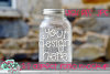 Mason Jar with Stone Background Mockup example image 1