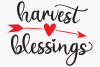 Harvest Blessings SVG, Cut File, Fall Shirt Design, Arrow example image 2