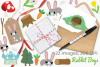 Rabbit Boys Clipart, Instant Download Vector Art example image 4