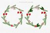 Christmas watercolor collection. Hand drawn illustrations. example image 6
