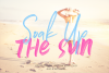 Soak Up The Sun Font Duo & SVG example image 1