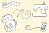 Cute Sewing Digital Stamps example image 3