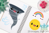 Cute Weather Clipart, Instant Download Vector Art example image 3