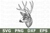 Zentangle Deer - An Animal SVG Cut File example image 1