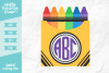 Monogram Crayons SVG DXF EPS PNG example image 1