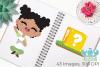 Gamer Girls Clipart, Instant Download Vector Art example image 3