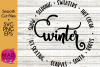 Winter - SVG EPS and PNG example image 1