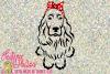 Cocker Spaniel with Bandana Bow example image 1