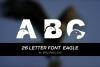 26 LETTER FONT  EAGLE example image 1