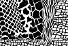 Black Animal Print Vector Patterns -  Black and White Safari Seamless Digital Papers example image 2
