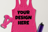 Ladies Tank Top Mockups - 20|Front/Back|PNG example image 19