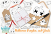 Halloween Pumpkins and Ghosts Digital Stamps example image 4