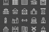 50 Buildings & Landmarks Line Inverted Icons example image 2